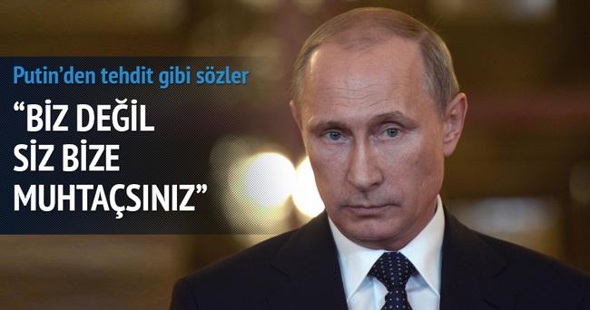 Rusya Devlet Başkanı Putin'den tehdit gibi sözler