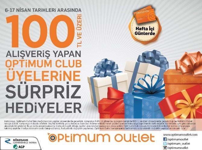 Adana Optimum'dan Hediye Yağmuru