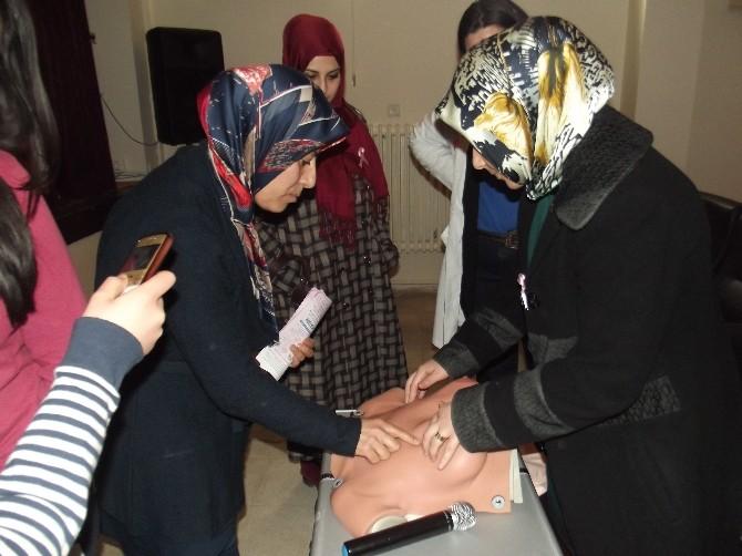 Bala'da Kadınlar Meme Kanseri Konusunda Bilgilendirildi