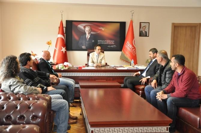 Dersimspor'dan Yeni Rektöre Ziyaret