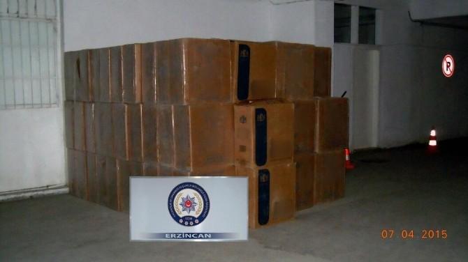Erzincan'da 72 Bin Paket Kaçak Sigara Ele Geçirildi