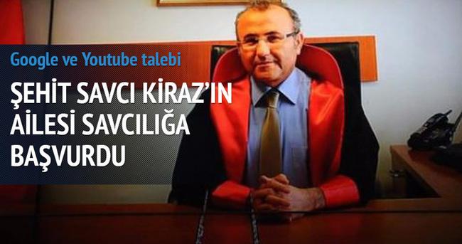Şehit Savcı Kiraz'ın ailesi savcılığa başvurdu