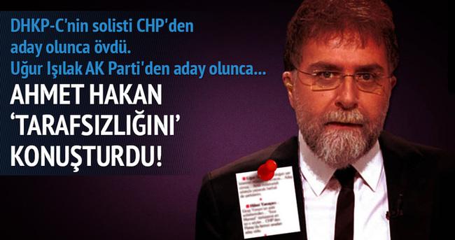 Hürriyet yazarı Ahmet Hakan 'tarafsızlığını' konuşturdu!