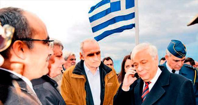 Yunan lider sınırdan aradı