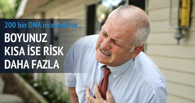 Kısa boylularda kalp krizi riski daha fazla