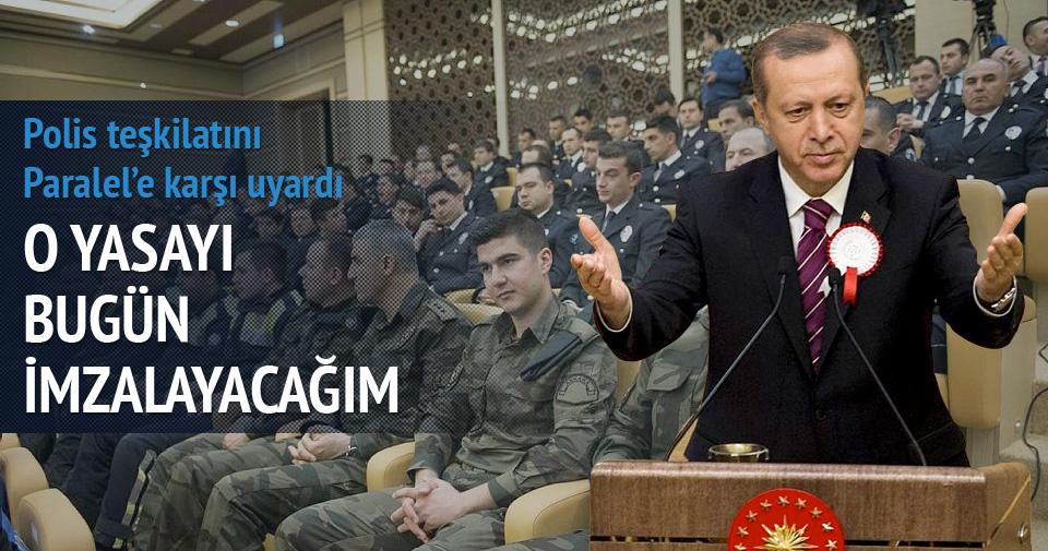 Erdoğan: Bu teşkilat bölündüğü zaman vatan elden gider