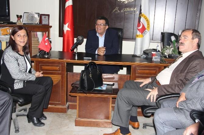 Akdeniz Belediyesi Eş Başkanları Mutlu Ve Türk'ten Mgc Yönetimine Ziyaret