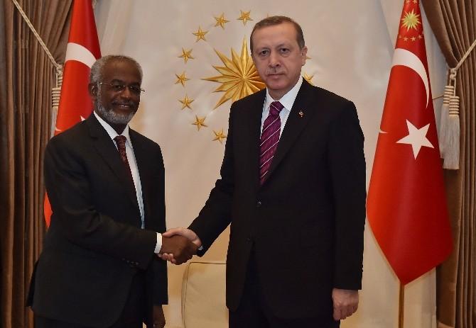 Cumhurbaşkanı Erdoğan, Sudan Dışişleri Bakanı Karti'yi Kabul Etti