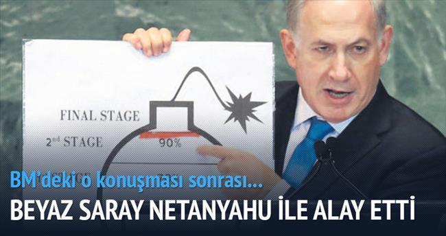 Beyaz Saray Netanyahu'nun nükleer grafiğiyle alay etti