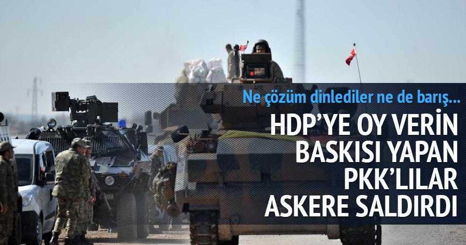 PKK ateş açtı 4 asker yaralı