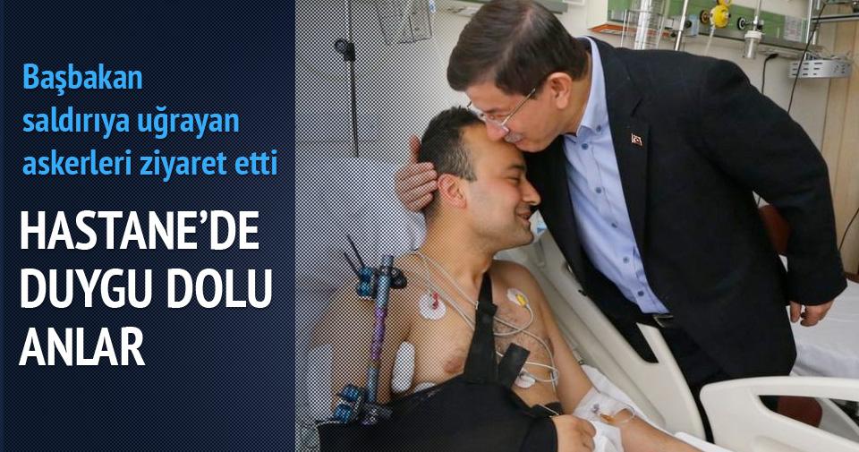 Başbakan Davutoğlu hastaneye gitti