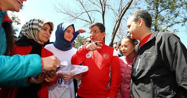 Davutoğlu ailesi oryantiring yarışında