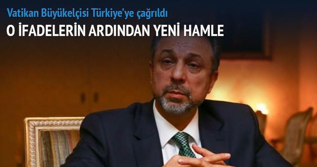 Vatikan Büyükelçisi Türkiye'ye çağrıldı