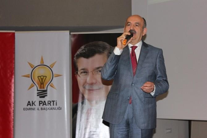 Sağlık Bakanı Müezzinoğlu Edirne'de Partililerle Bir Araya Geldi