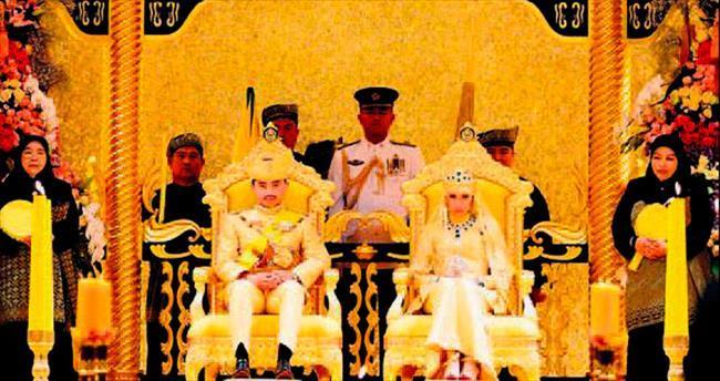 Brunei Prensi'ne altın düğün