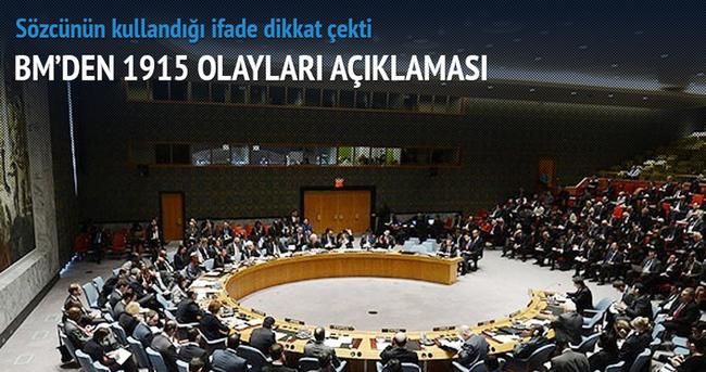 Birleşmiş Milletler'den 1915 olayları açıklaması