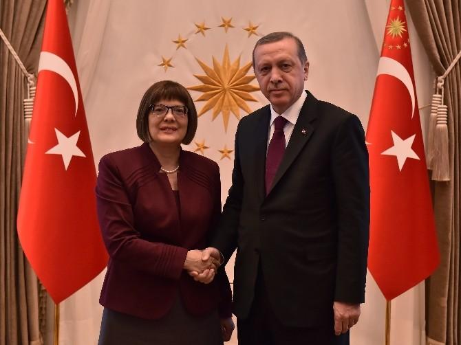 Cumhurbaşkanı Erdoğan, Sırbistan Ulusal Meclisi Başkanı Gojkoviç'i Kabul Etti