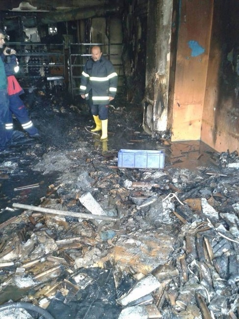 Beyşehir'de Tüfek Fabrikasında Yangın