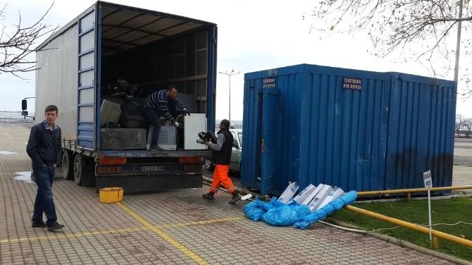 Tekirdağ'da Elektronik Atıklar Geri Kazandırılıyor