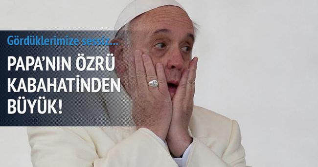 Papa'dan Türkiye'ye dolaylı yanıt
