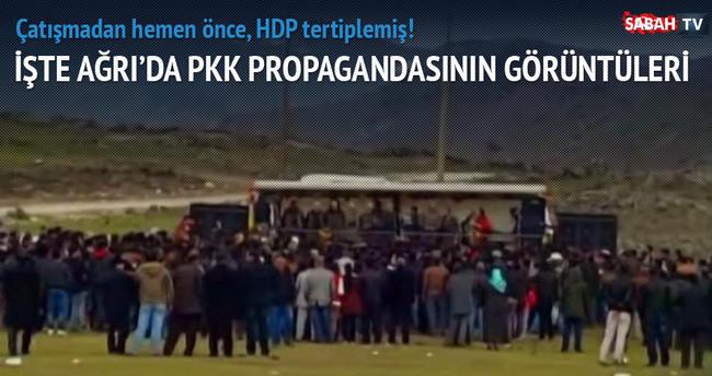 İşte Ağrı'da PKK propagandasının görüntüleri