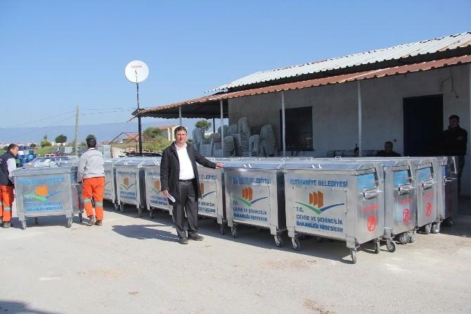 Burhaniye'de 146 Adet Yeni Çöp Konteynırı