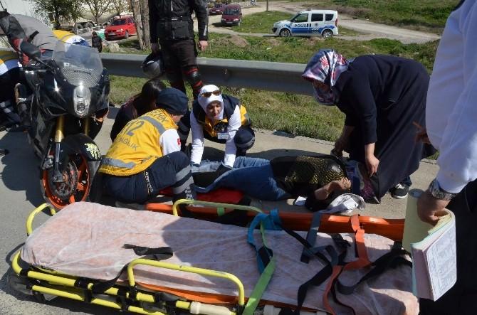Eskişehir'de Trafik Kazası, 2 Yaralı