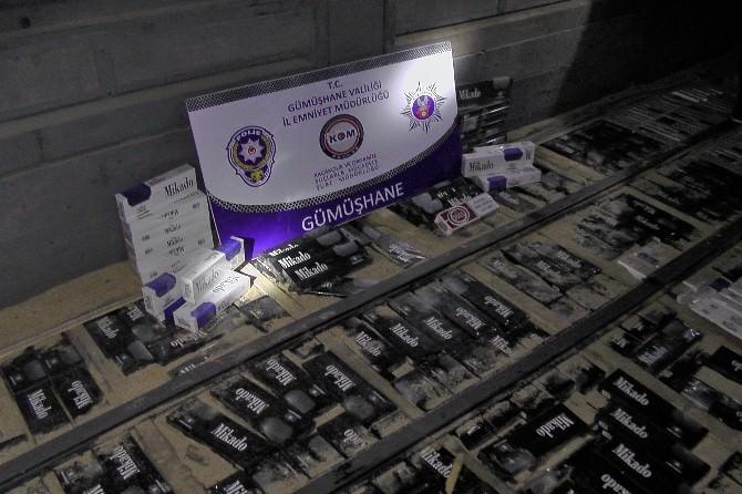 Gümüşhane'de 17 Bin 950 Paket Kaçak Sigara Ele Geçirildi