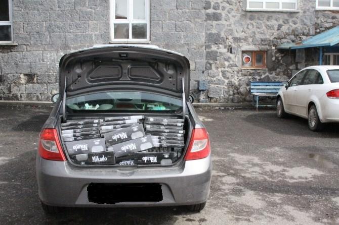 Kars'ta 4 Bin 500 Paket Kaçak Sigara Ele Geçirildi