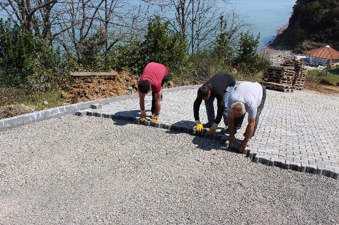 Akçakoca'da Kilit Parke Çalışmaları Başladı