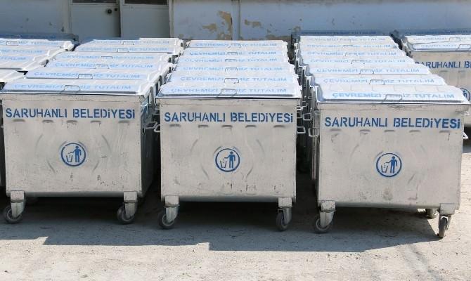 Saruhanlı'da Çöp Konteynerleri Yenileniyor