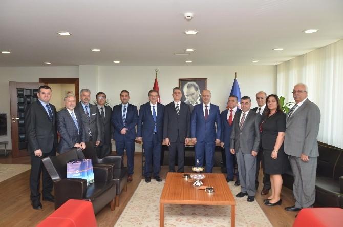 Tunus Büyükelçisi Tekaya Mersin Üniversitesi'ni Ziyaret Etti