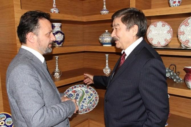 Türksoy Genel Sekreteri Kaseinov Kütahya'da