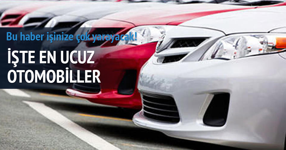 2015'in en ucuz otomobillleri