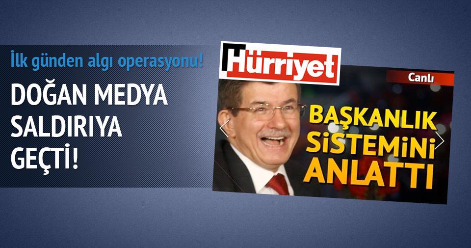 Hürriyet'in Davutoğlu ile ilgili çirkin algı çalışması