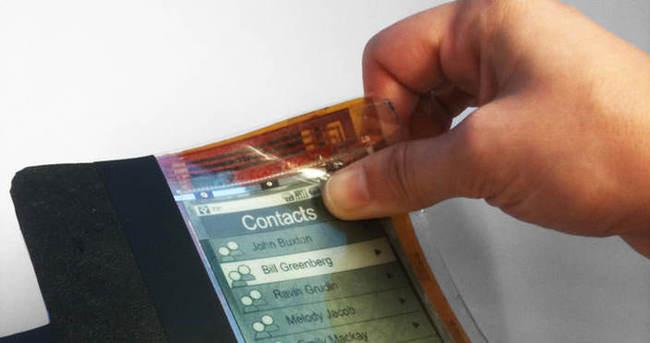 Kağıt gibi katlanabilir akıllı telefonlar artık mümkün