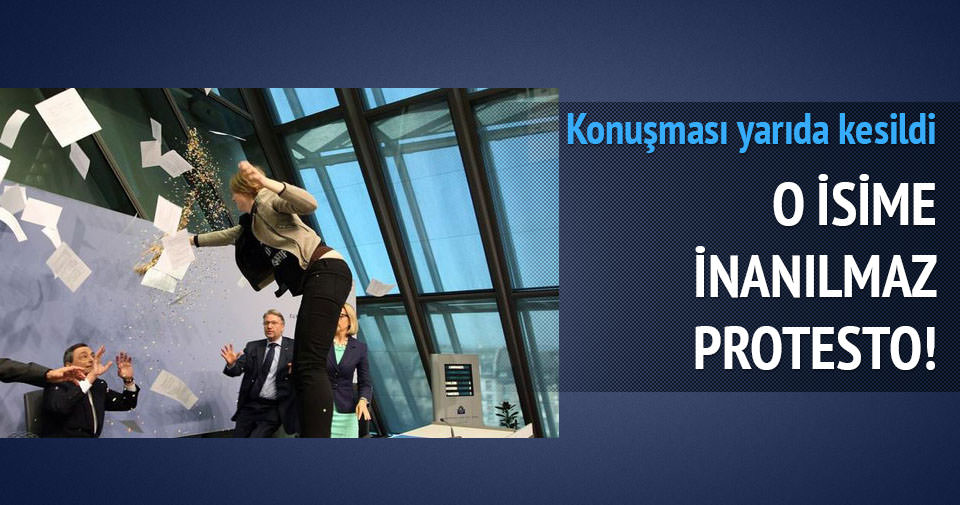 Avrupa Merkez Bankası Başkanı'na protesto eylemi!
