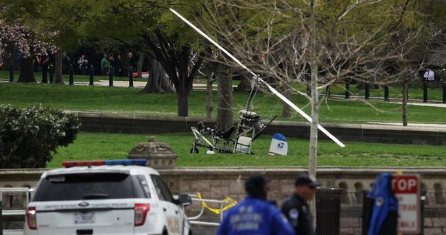 ABD Kongre bahçesine helikopter indi