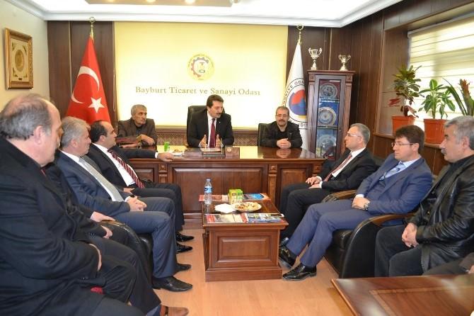 AK Parti Bayburt Milletvekili Adayları Bayburt TSO'yu Ziyaret Etti