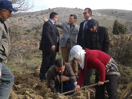 Beylikova'da 5 Bin Fidan Toprakla Buluşturuldu