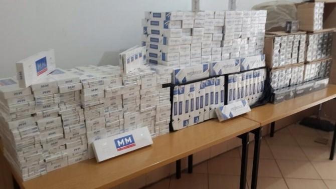Jandarma 9 Bin Paket Kaçak Sigara Ele Geçirdi