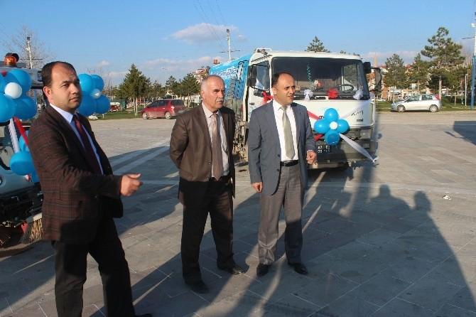 Beyşehir'de Temizlik Araçları Tanıtıldı