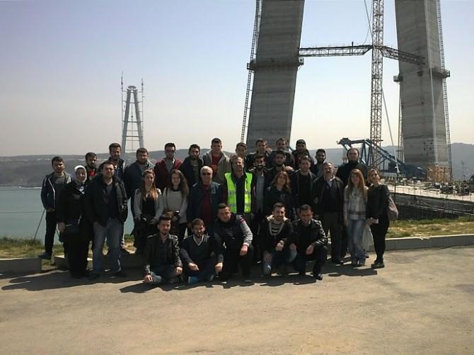 İnşaat Teknolojisi Öğrencilerden Yavuz Sultan Selim Köprüsü'ne Teknik Gezi