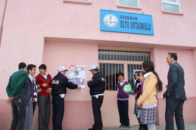 Oltu'da Trafik Haftası Hazırlıkları