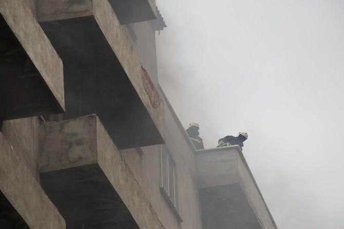 İnşaat Halindeki Binada Yangın Çıktı