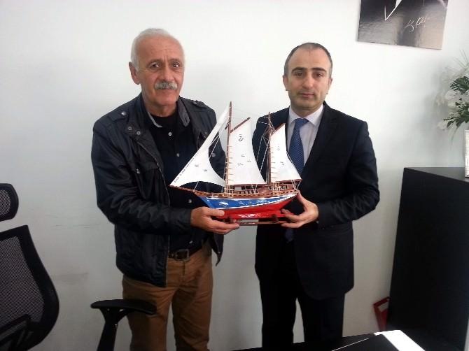 Sinop Gazeteciler Cemiyeti'nden BİK Şube Müdürü Kuru'ya Ziyaret