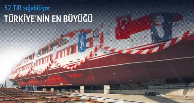 Türkiye'nin en büyük Ro-Ro gemisi denizde
