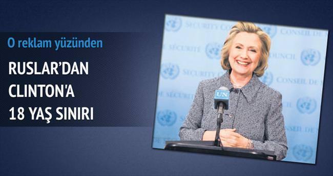 Rus TV'sinden Clinton reklamına 18 yaş sınırı
