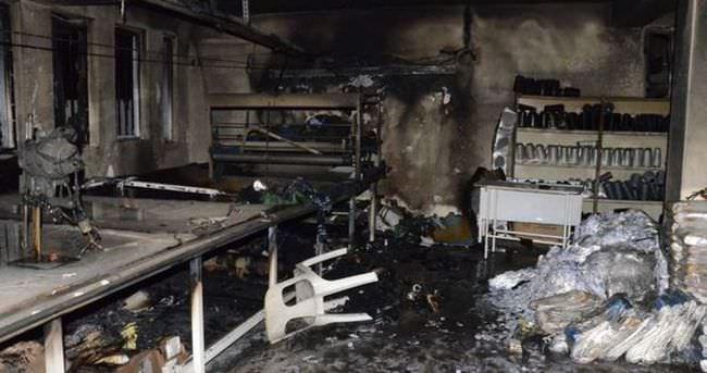 Siverek'te fabrika yangını