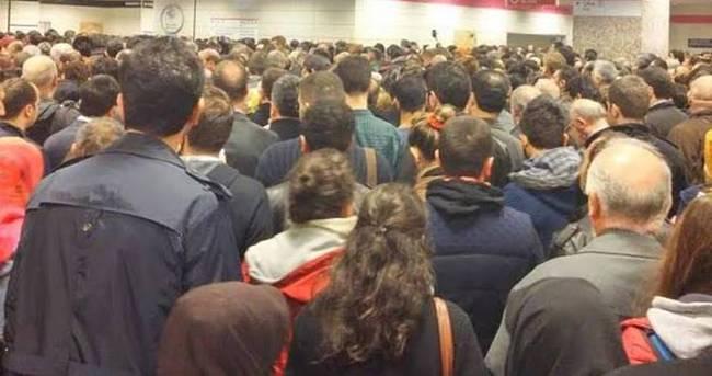 Vapurlar durdu Marmaray doldu taştı